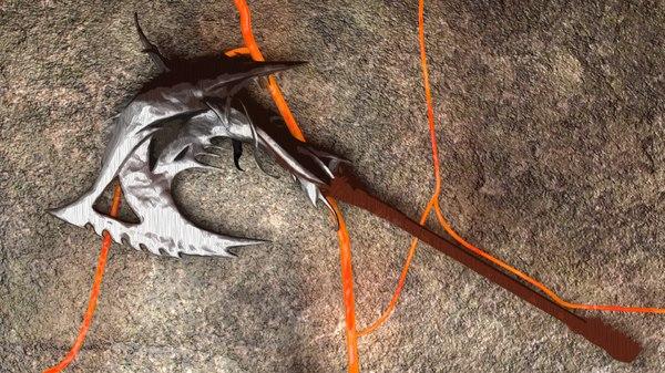 sculpting axe 3d model
