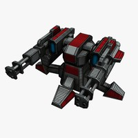 3d model sci-fi mini gun