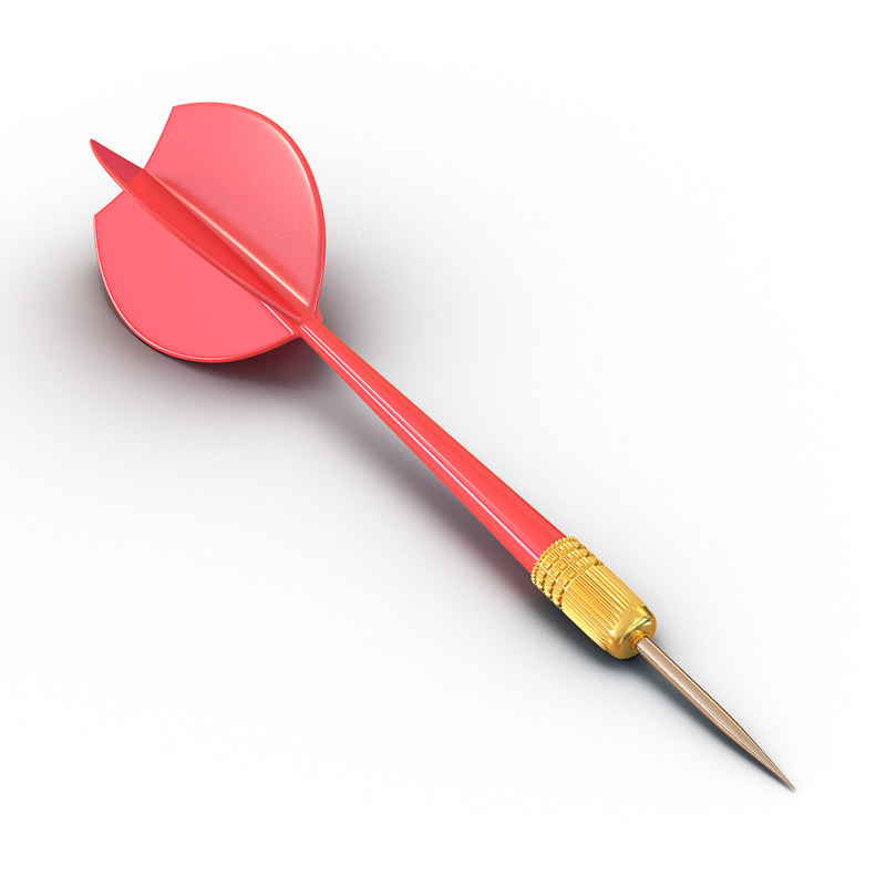 dart needle 2 red 3d max