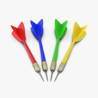 3d model dart needle 3 set