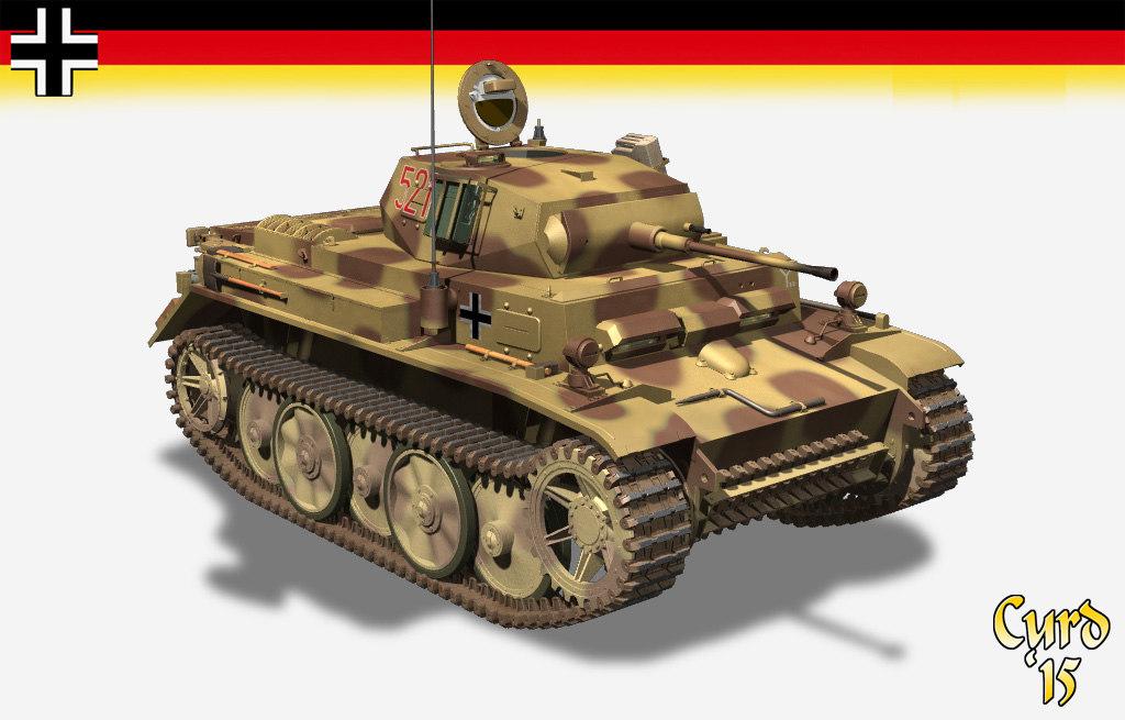 3d light tank ii l model