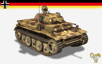 3d light tank ii l model