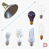 3d light bulbs 3 model