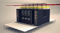 3d model network data center