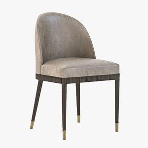 laurent dining chair 3d 3ds