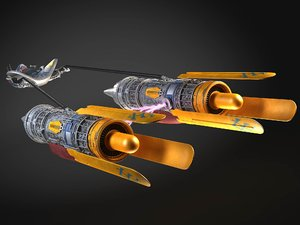 3d model of racer anakin pod