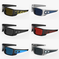 stylish oakley batwolf sunglasses 3d model