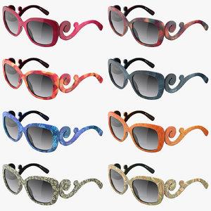 stylish prada sunglasses 3d 3ds