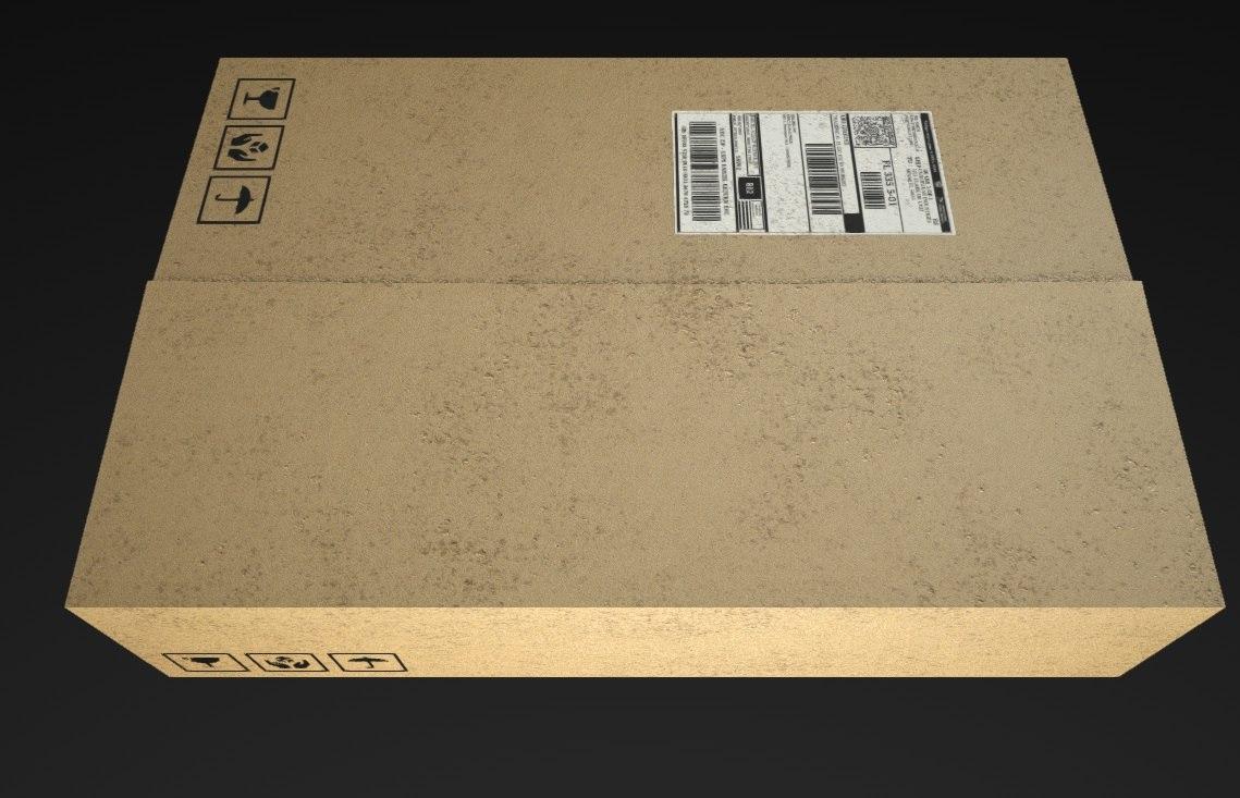 3d box shipping model