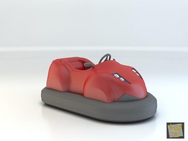 toy eletric car 3d model
