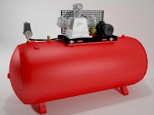air compressor 3d max