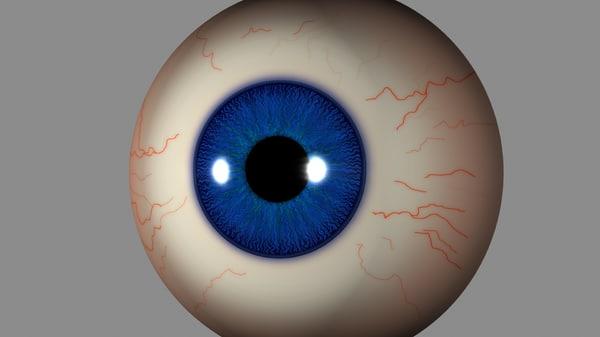 eye iris 3d max