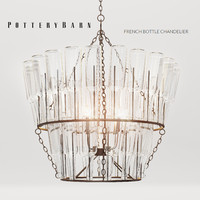 PB FRENCH BOTTLE CHANDELIER