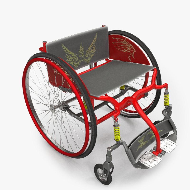 wheel chair wheelchair 3d max