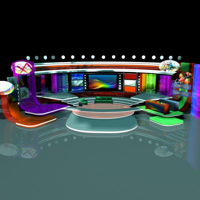 tv program 110 3d model