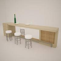 bar stand 3d model