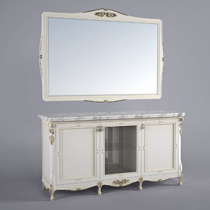 buffet mirror 3d obj