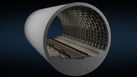 metro section tiled 3d model