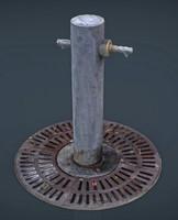 3d fountain 4 model