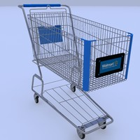 walmart shopping cart 3d max