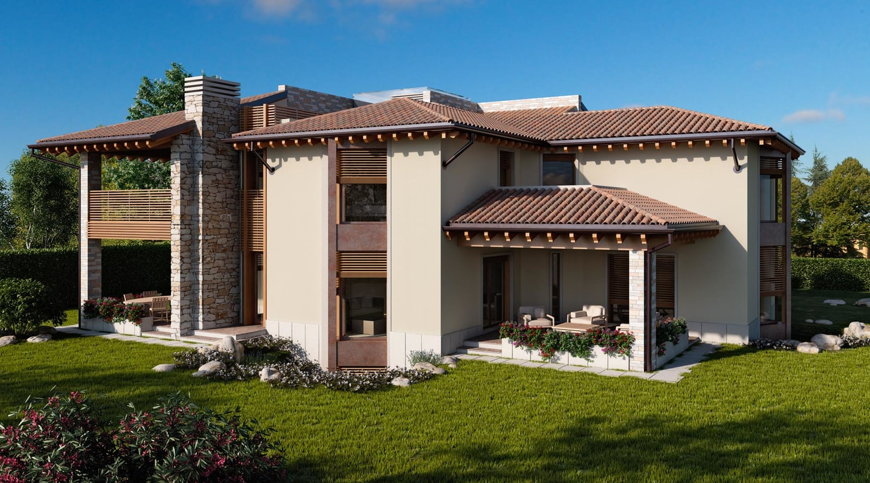 italian country villa 3d model