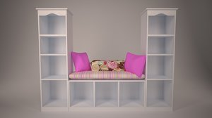 3d bookcase-couch girls