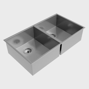 clark razor double bowl 3d model