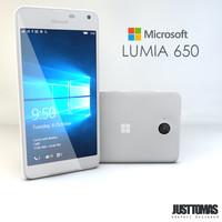 3d microsoft lumia 650 model