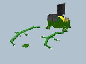 3d scraper farms drive model