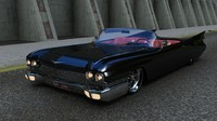 3d classic car cadillac eldorado model