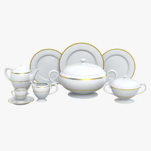 dinnerware set 3d model
