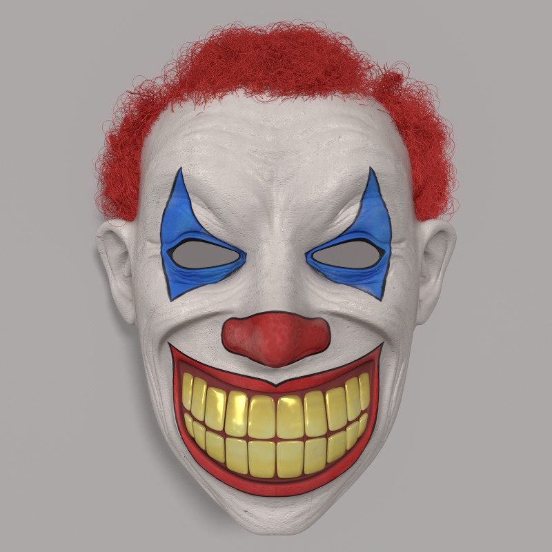 3d clown mask model