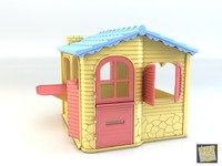 3d model toy house heart