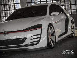 volkswagen design vision gti 3d max