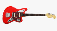 3d fender jaaguar electric guitar