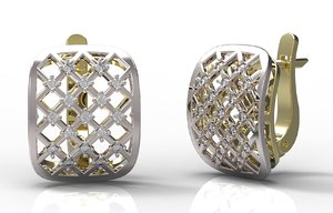 3d model earrings 96