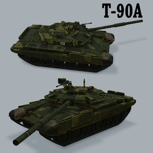 russian battle tank t90a 3d model