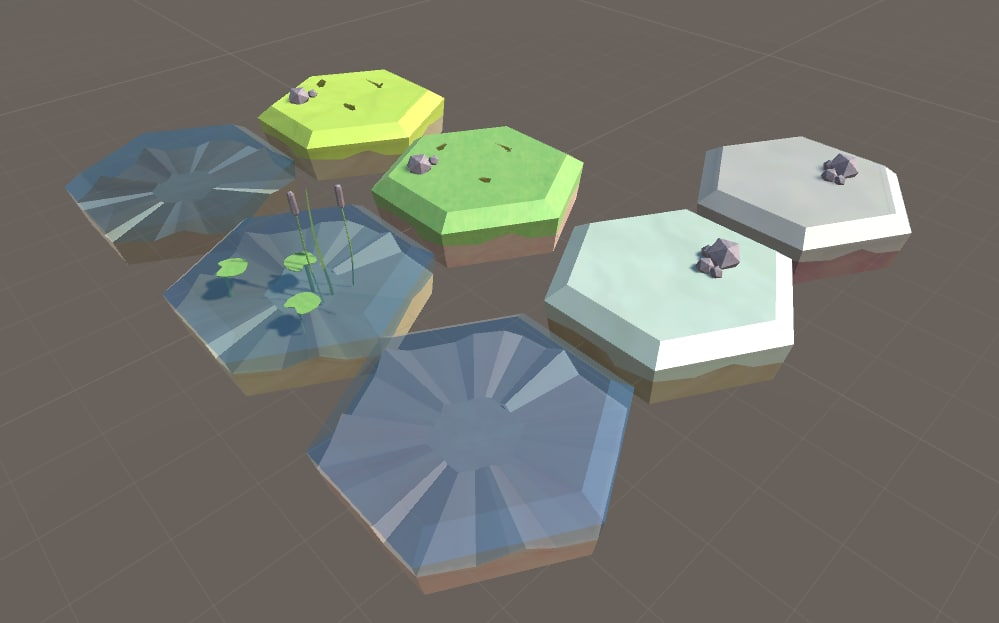 blend hexagon grass tiles