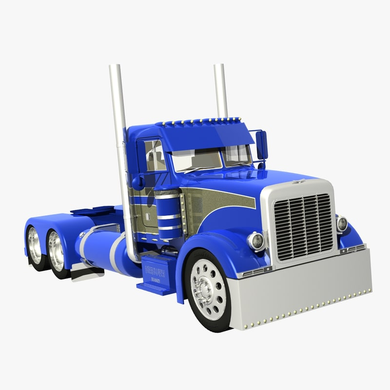 378 truck daycab 3d lwo