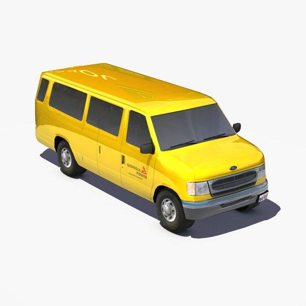 3d e350 transit van vehicles model