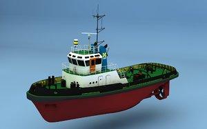 3d model harbour tug smit ierland