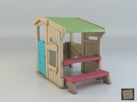 3d toy house camping step2