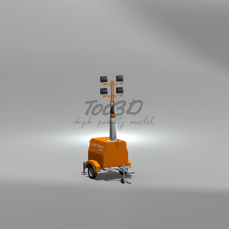 light tower 3d model