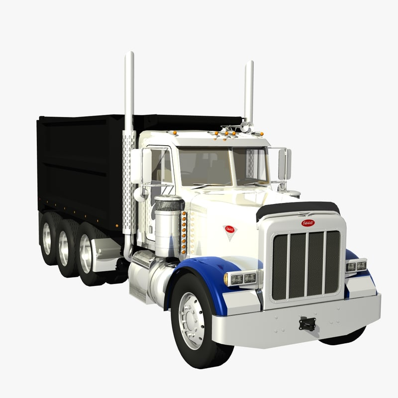 378 dump truck 3d model