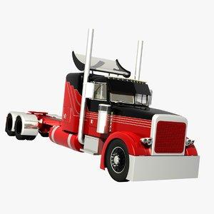 378 truck sleeper 3d model