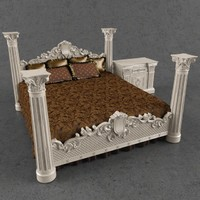 3d bedcloth bed nightstand angelo cappellini model