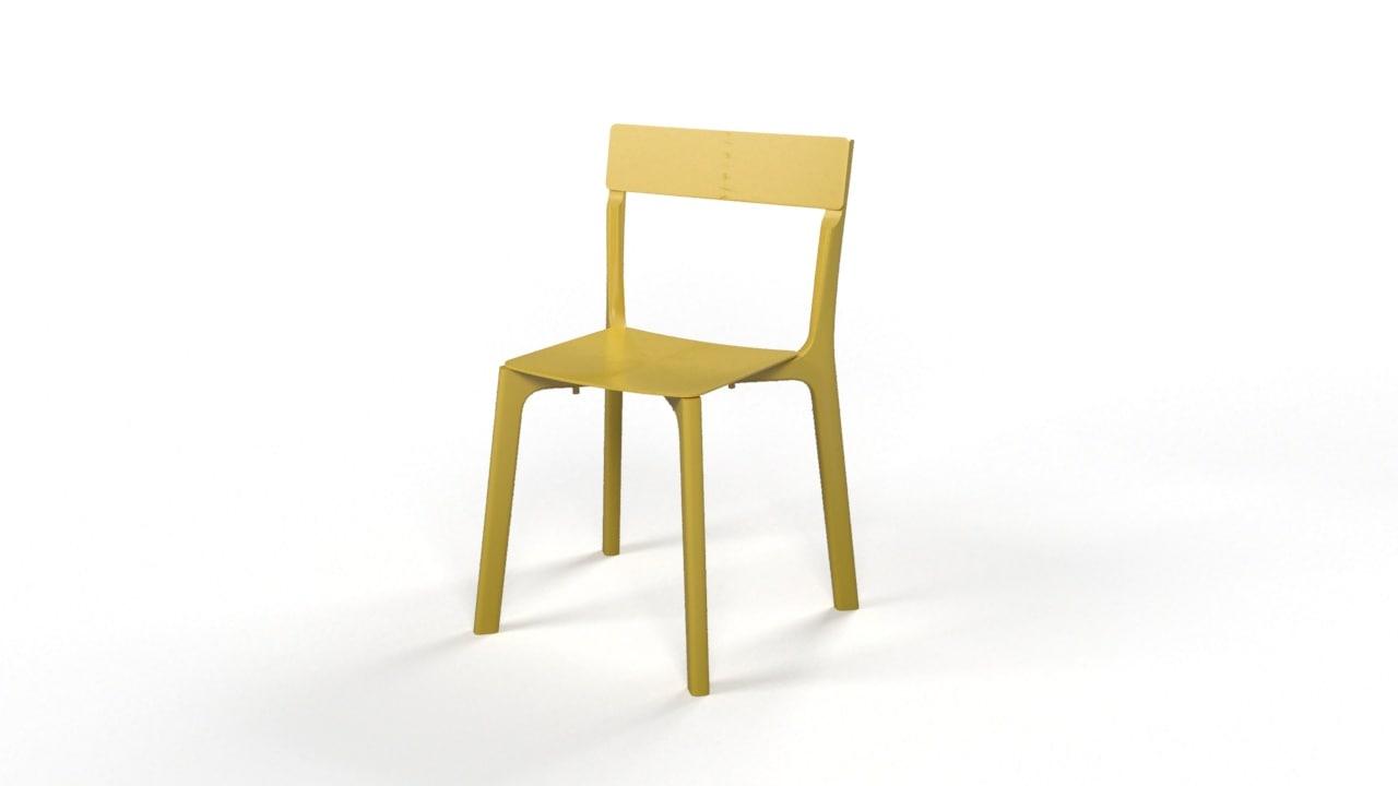 3d model chair janinge ikea