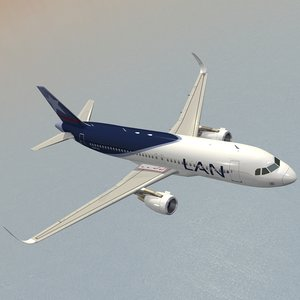 sharkleted airbus a320neo lan 3d model