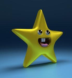 3d cartoon star