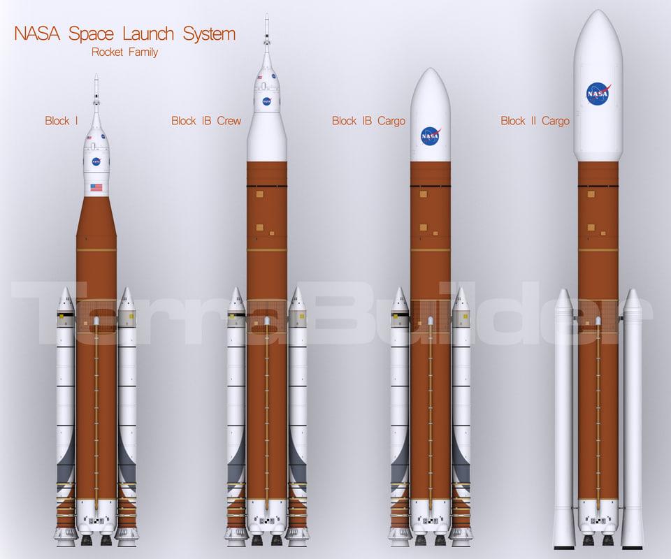 space launch sls heavy 3d model